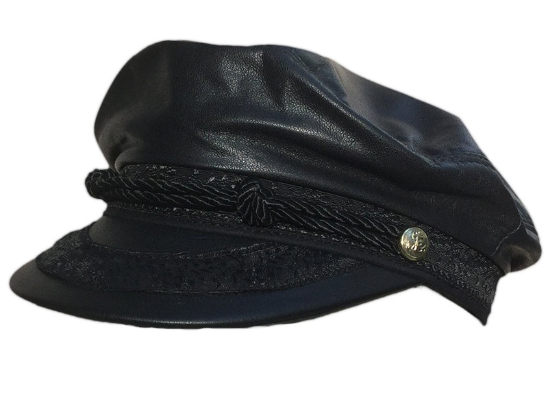 Leather Greek Fisherman Cap