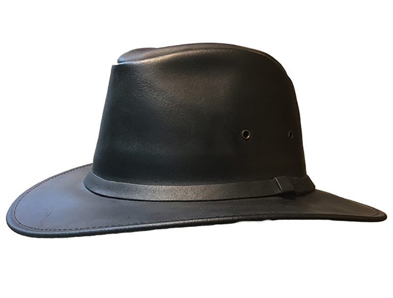 Crushable Leather Safari Hat