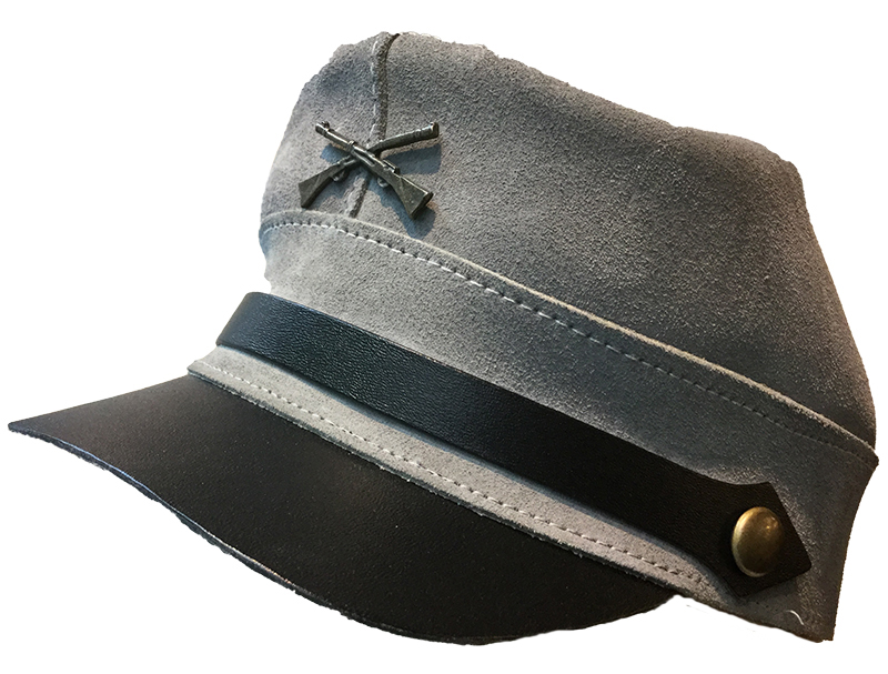 Suede Civil War Kepi